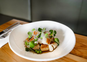 RECIPE: Simon Moss's hand-rolled gnocchi with beurre noisette, peas, aged balsamic, ricotta and lemon