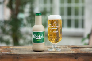 Carlsberg shows off paper bottle prototypes