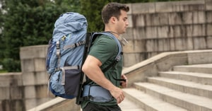 Check this out: a floating backpack!