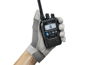 Icom hybrid radio suits land and sea