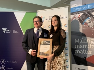 RollsPack's young achiever shines at Melbourne Business Awards