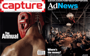Top Sydney advertising photographer snags covers of both Capture and AdNews' Annuals