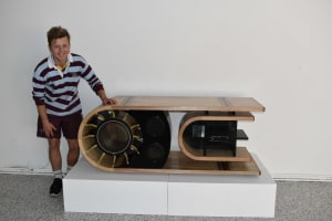 Jamieson Davis's jet turbine inspired entertainment unit