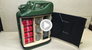 Make Your Own Travel Mini Bar From a Jerry Can