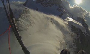 FRIDAY FLYING VIDEO: Gliding off the Jungfraujoch