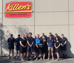 Killen's Smash Repair achieves Gold Class