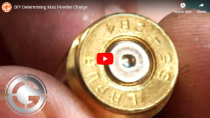 DIY Determining Max Powder Charge