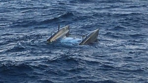 Finnish RoRo ship rescues three from capsized catamaran off Portugal