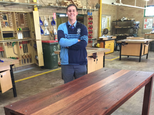 Miles Lush's Recycled Timber Dining Table
