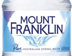 Mount Franklin bottles now 100 per cent recycled