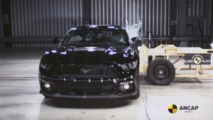 Revised Mustang receives three star safety rating
