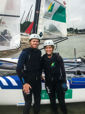 Nathan and Haylee Outteridge aiming for Olympic selection in the Nacra 17