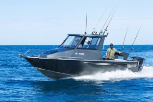 Yellowfin plate boats on display at Sydney