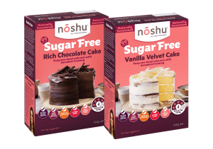 Noshu launches sugar-free cake mixes