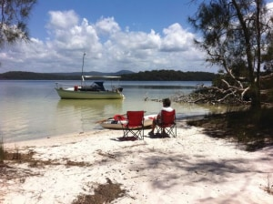 Myall Lakes meanderings: a trailer sailer adventure