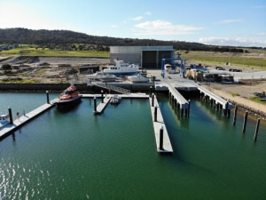 New boat dry-stack facility opens at Martha Cove.