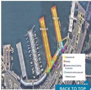 Access changes to Pier 2/3