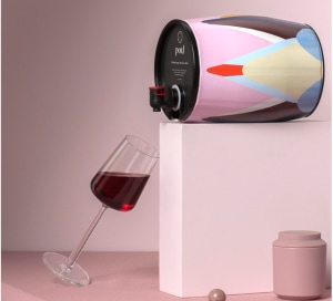 Pord teams with artists on a cask wine intervention