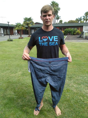 German sailor lost overboard credits his jeans with saving his life