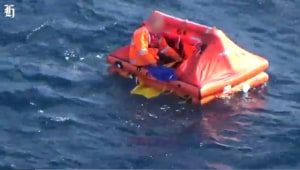 Dramatic ocean rescue: Watch as yacht's stricken crew rescued after four-day ordeal