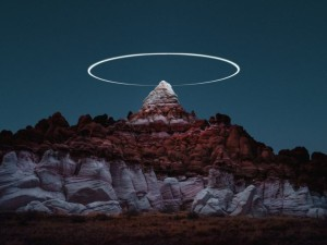 Photographer Reuben Wu creates halos above landscapes using drones