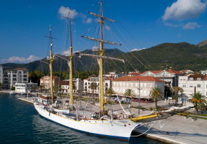 Ongoing dispute over three-masted tall ship divides two Balkan neighbors
