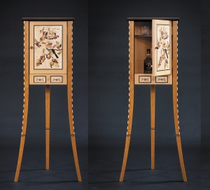 Video: making the marquetry Jay-Bird Whiskey Cabinet