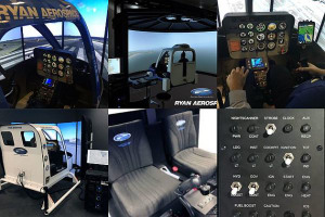 Ryan Aerospace showcases low cost Bell simulator at Heli-Expo