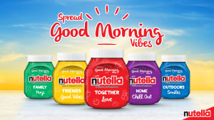 Colourful Nutella jars new addition to mornings