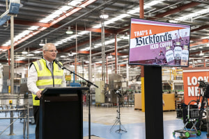 PM Morrison opens new $20m Bickford's bottling line