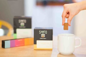 Santo coffee cube brews in ten seconds