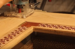 How to inlay a tabletop