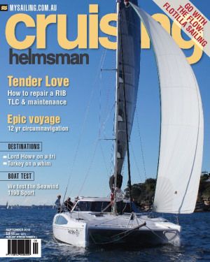It is a little bit of push and shove in the September Cruising Helmsman