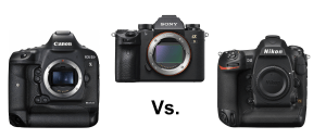 Video: The pro camera shootout: Sony a9 vs. Canon 1DX II vs. Nikon D5