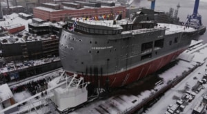 Russia launches unusual floating science station for the high Arctic