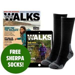 Score Sherpa socks with every new Great Walks subscription
