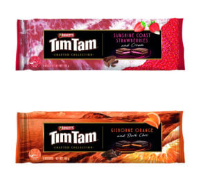 A sweet surrealism for new Tim Tam packs