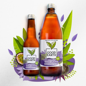 Good Earth Kombucha gets a Bold rebrand