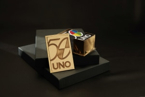 It took a master goldsmith 80 hours to make this Uno collector's item