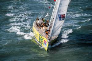 The Clipper Race surfs into Portimão with Punta del Este announced as winner of first race