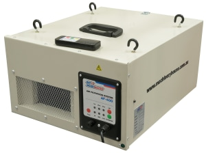 Affordable air scrubber boosts workshop safety