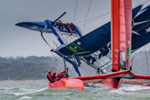 Tom Slingsby delivers masterclass in extreme conditions at Cowes SailGP