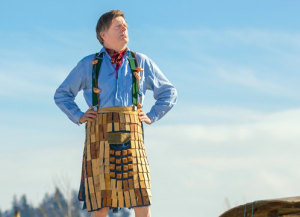 Wooden Kilt for National Tartan Day