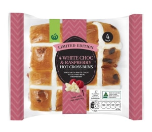 Easter range of flavoured hot cross buns