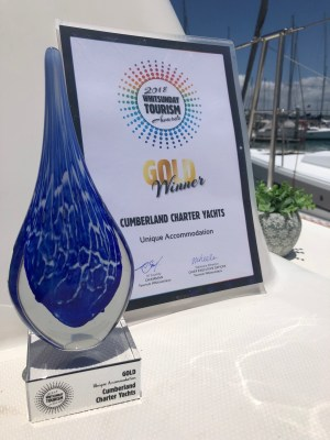Gold for Cumberland Charter Yachts at Tourism Awards