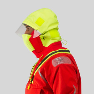 Protective foul weather gear from Zhik provides facial protection afloat for sailors and watersports instructors