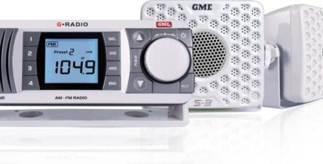 Black GR300BTB GME Waterproof Marine Am//Fm Radio With Bluetooth Gme