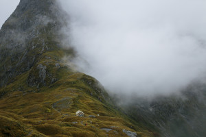 Up in the Clouds, Mackinnnon Pass, New Zealand