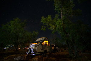 At home under the stars