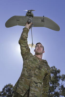 Aerovironment's Wasp AE SUAS will be supplied by XTEK under Land 129 Phase 4. Credit: Defence